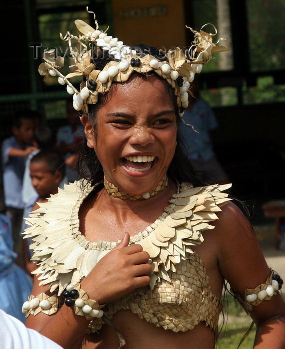 fiji36: Rabi Island, Vanua Levu Group, Northern division, Fiji: female dancer - photo by R.Eime - (c) Travel-Images.com - Stock Photography agency - Image Bank