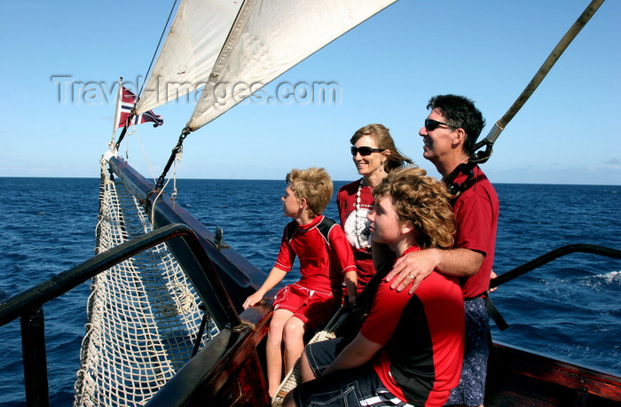 fiji41: Fiji: family on a Norwegian schooner enjoying a day at sea - photo by R.Eime - (c) Travel-Images.com - Stock Photography agency - Image Bank