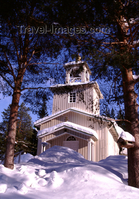 fin117: Finland - Lapland - Rovaniemi- Orthodox church - Arctic images by F.Rigaud - (c) Travel-Images.com - Stock Photography agency - Image Bank