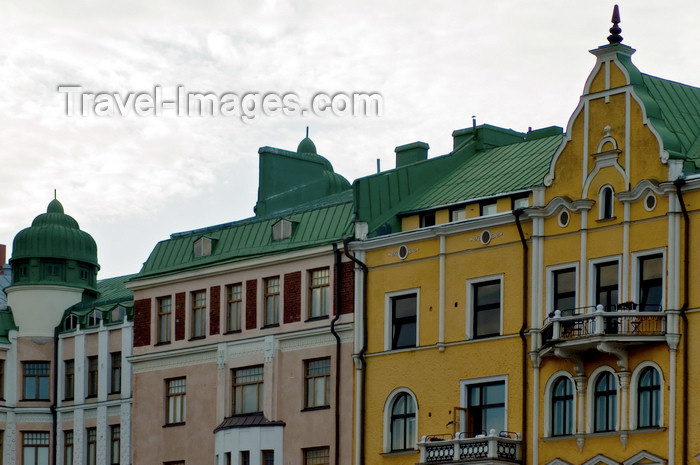 fin123: Finland - Helsinki, colourful buildings from the city center - photo by Juha Sompinmäki - (c) Travel-Images.com - Stock Photography agency - Image Bank