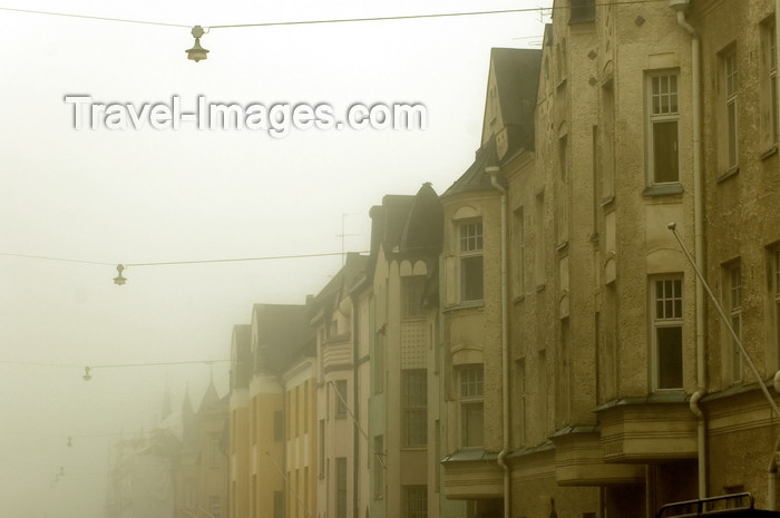 fin124: Finland - Helsinki, Eira area, buildings in the mist - photo by Juha Sompinmäki - (c) Travel-Images.com - Stock Photography agency - Image Bank