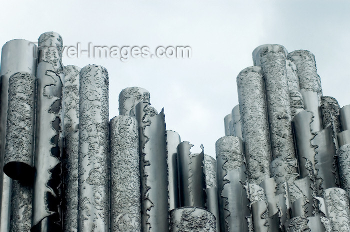 fin138: Finland - Helsinki, Sibelius monument - photo by Juha Sompinmäki - (c) Travel-Images.com - Stock Photography agency - Image Bank