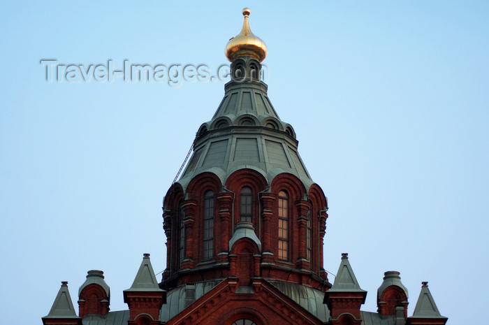 fin144: Finland - Helsinki, the red Orthodox church dome detail - photo by Juha Sompinmäki - (c) Travel-Images.com - Stock Photography agency - Image Bank