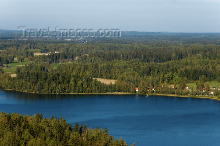 fin151: Finland - Hämeenlinna, Aulanko, natural reserve and park, Finnish national landscape - lake view - photo by Juha Sompinmäki - (c) Travel-Images.com - Stock Photography agency - Image Bank