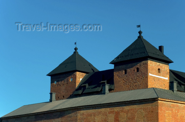 fin153: Finland - Hämeenlinna, Hämeenlinna medieval castle - towers - photo by Juha Sompinmäki - (c) Travel-Images.com - Stock Photography agency - Image Bank