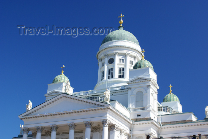 fin159: Helsinki, Finland: Lutheran Cathedral - pediment  and dome - Suurkirkko / Storkyrkan - photo by A.Ferrari - (c) Travel-Images.com - Stock Photography agency - Image Bank