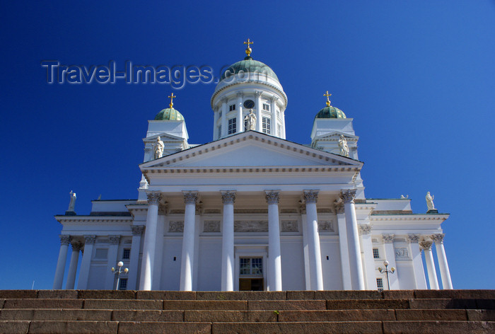 fin160: Helsinki, Finland: Lutheran Cathedral - hexastyle portico and green dome - Suurkirkko / Storkyrkan - photo by A.Ferrari - (c) Travel-Images.com - Stock Photography agency - Image Bank