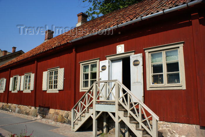 fin170: Turku, Western Finland province - Finland Proper region / Varsinais-Suomi - Finland: old pharmacy - entrance - typical Scandinavian houses along the Aura river - photo by A.Ferrari - (c) Travel-Images.com - Stock Photography agency - Image Bank