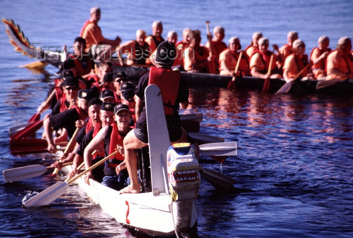 fin68: Finland - Tahko / Tahkovuori - Eastern Finland province - Northern Savonia region: dragon boats (photo by F.Rigaud) - (c) Travel-Images.com - Stock Photography agency - Image Bank