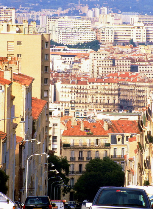 france1015: Marseilles, Bouches-du-Rhône, PACA: steep street - cityscape - photo by K.Gapys - (c) Travel-Images.com - Stock Photography agency - Image Bank