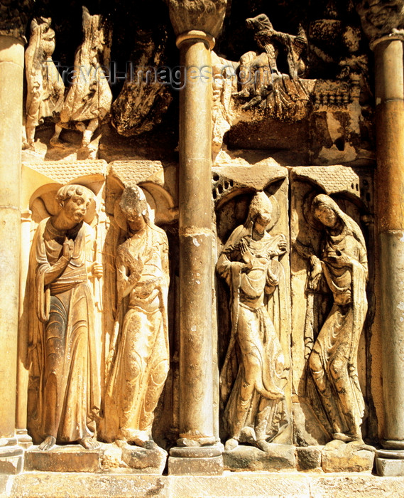 france1023: Moissac, Tarn-et-Garonne, Midi-Pyrénées, France: Abbey of Moissac, Romanesque south door - part of the World Heritage Site, Routes of Santiago de Compostela in France - photo by K.Gapys - (c) Travel-Images.com - Stock Photography agency - Image Bank