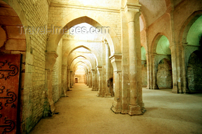 france1042: Montbard, Côte-d'Or, Côte-d'Or, Burgundy / Bourgogne, France: Fontenay Abbey - founded by Saint Bernard of Clairvaux in 1118, Romanesque style - photo by K.Gapys - (c) Travel-Images.com - Stock Photography agency - Image Bank