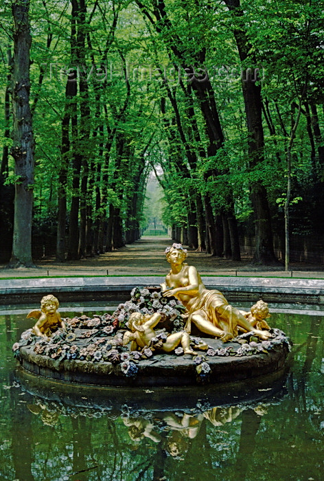 france1073: Versailles, Yvelines, Île-de-France, France: fountain with gilded statues in the gardens of Versailles Palace - photo by C.Lovell - (c) Travel-Images.com - Stock Photography agency - Image Bank