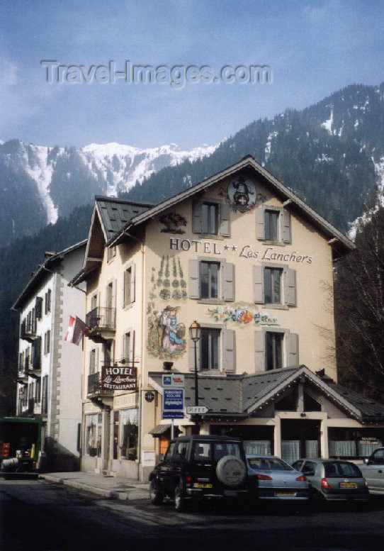 france11: France / Frankreich -  Praz-de-Chamonix (Haute-Savoi - Rhône-Alpes): hotel les Lanchers - photo by M.Torres - (c) Travel-Images.com - Stock Photography agency - Image Bank