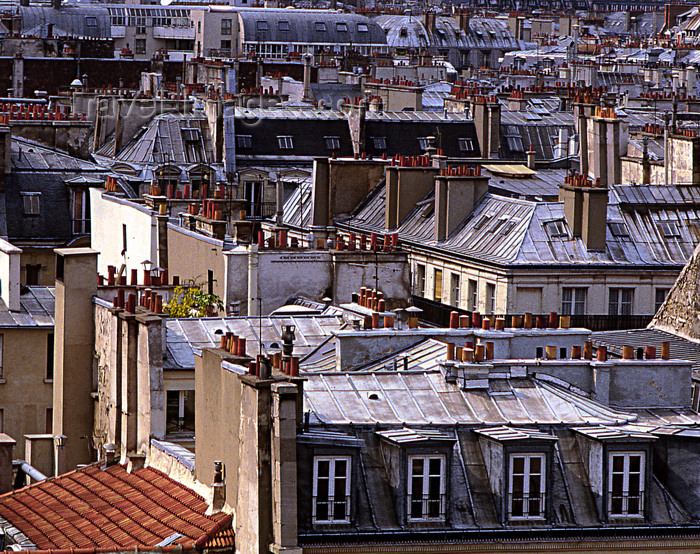 france1187: Paris: roofs of Paris seen from Printemps grand magasin - 9th arrondissement - photo by Y.Baby - (c) Travel-Images.com - Stock Photography agency - Image Bank