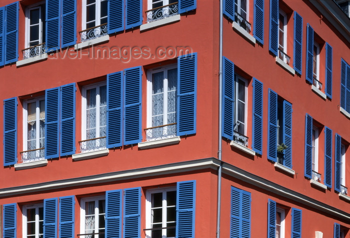 france1227: Le Havre, Seine-Maritime, Haute-Normandie, France: Apartments - windows with blue wood blinds - photo by A.Bartel - (c) Travel-Images.com - Stock Photography agency - Image Bank