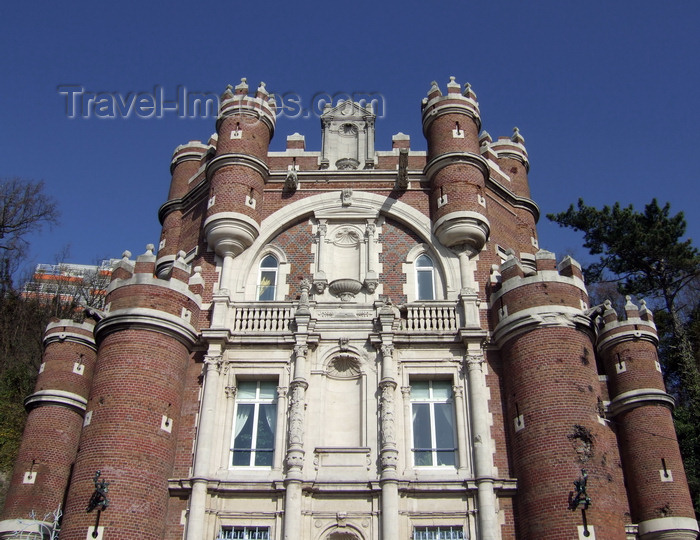 france1233: Le Havre, Seine-Maritime, Haute-Normandie, France: Chateau de Gadelles, Porte de Burgos, architec. H.Toutain, engineer G.Eiffel - turrets and crenellations - Rue Cochet - photo by A.Bartel - (c) Travel-Images.com - Stock Photography agency - Image Bank