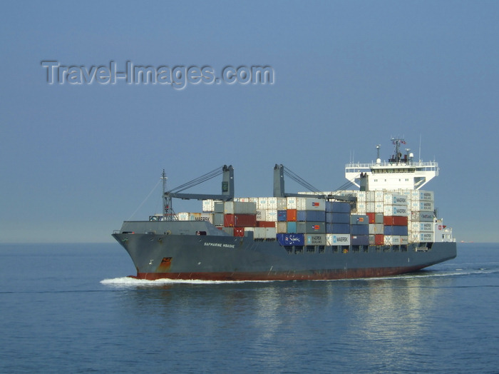 france1240: Le Havre, Seine-Maritime, Haute-Normandie, France: Safmarine Mbashe Container Ship - Normandy - photo by A.Bartel - (c) Travel-Images.com - Stock Photography agency - Image Bank
