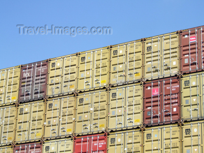 france1253: Le Havre, Seine-Maritime, Haute-Normandie, France: Containers piled on a Ship - photo by A.Bartel - (c) Travel-Images.com - Stock Photography agency - Image Bank