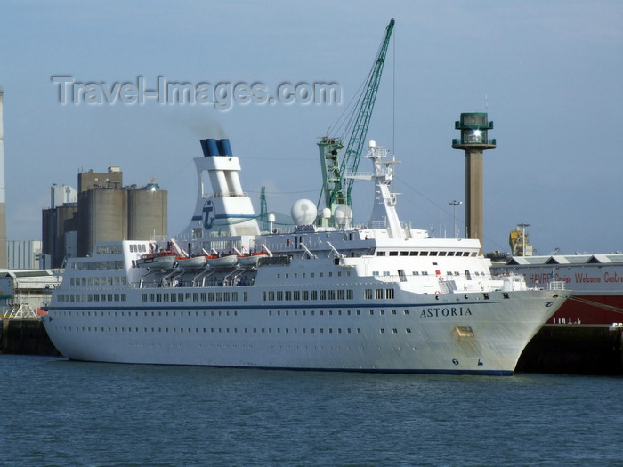france1270: Le Havre, Seine-Maritime, Haute-Normandie, France: Cruise Ship Astoria and harbour silos - Normandy - photo by A.Bartel - (c) Travel-Images.com - Stock Photography agency - Image Bank