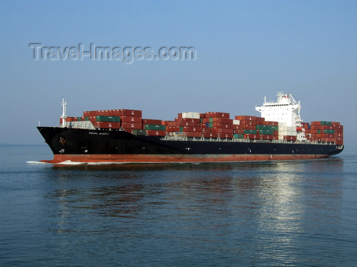 france1282: Le Havre, Seine-Maritime, Haute-Normandie, France: Pearl River I Container Ship - photo by A.Bartel - (c) Travel-Images.com - Stock Photography agency - Image Bank