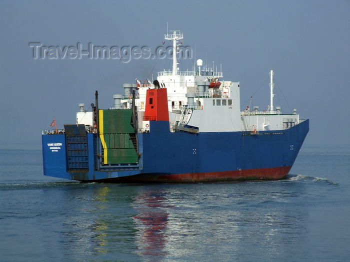 france1284: Le Havre, Seine-Maritime, Haute-Normandie, France: Vans Queen - Liberia registered RoRo Ship - photo by A.Bartel - (c) Travel-Images.com - Stock Photography agency - Image Bank