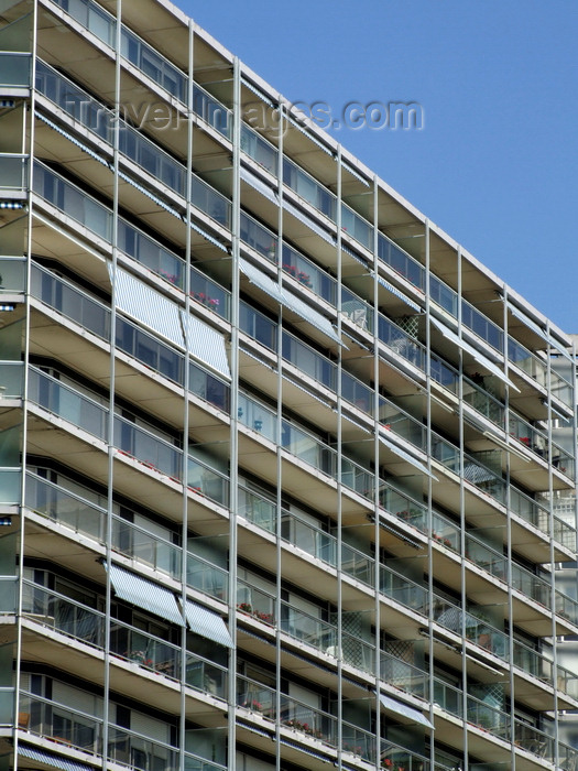 france1287: Le Havre, Seine-Maritime, Haute-Normandie, France: balconies - Residence de France, Apartments - Boulevard Clemenceau - photo by A.Bartel - (c) Travel-Images.com - Stock Photography agency - Image Bank