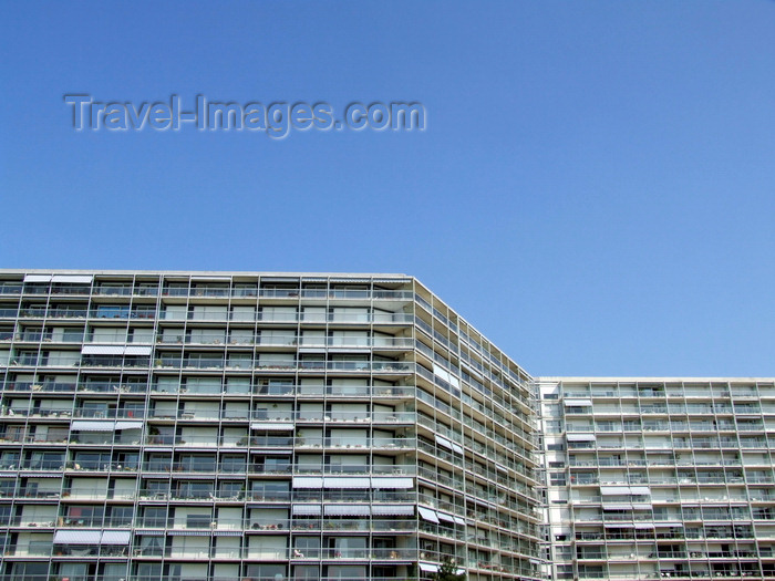 france1288: Le Havre, Seine-Maritime, Haute-Normandie, France: Residence de France, Apartment complex - photo by A.Bartel - (c) Travel-Images.com - Stock Photography agency - Image Bank