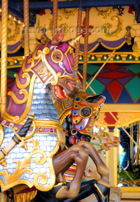 france129: Disneyland Paris, Chessy, Seine-et-Marne,  Île-de-France, France: unicorn on a carousel - Eurodisney - photo by H.Olarte - (c) Travel-Images.com - Stock Photography agency - Image Bank