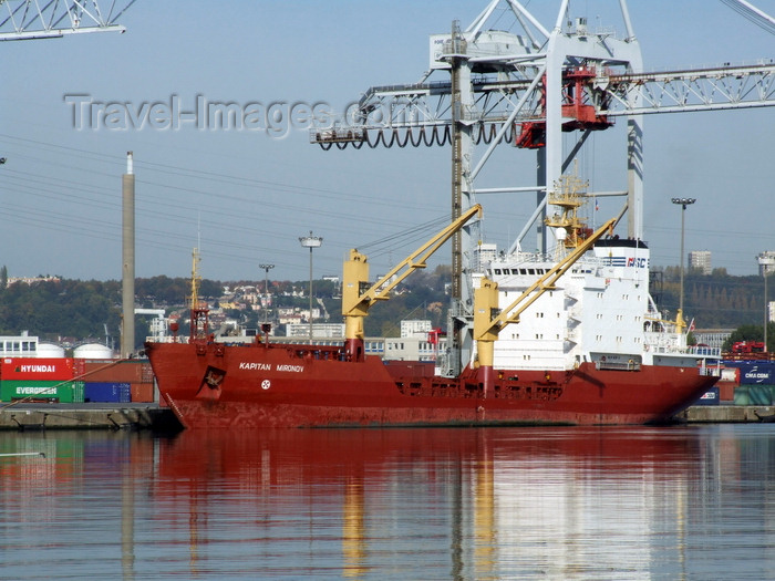france1290: Le Havre, Seine-Maritime, Haute-Normandie, France: Kapitan Mironov Cargo Ship, Port - Normandy - photo by A.Bartel - (c) Travel-Images.com - Stock Photography agency - Image Bank