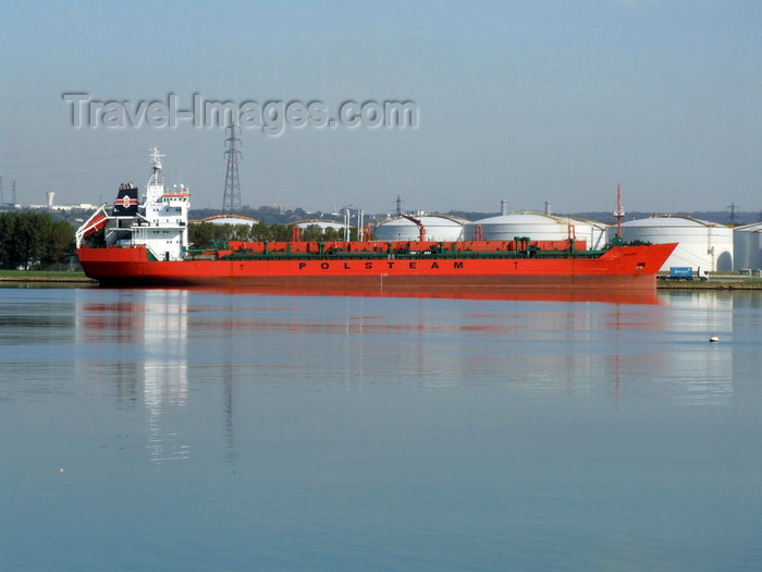 france1291: Le Havre, Seine-Maritime, Haute-Normandie, France: Kaliope Chemical Tanker, starboard - Polsteam lines - photo by A.Bartel - (c) Travel-Images.com - Stock Photography agency - Image Bank