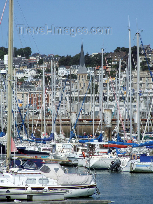 france1295: Le Havre, Seine-Maritime, Haute-Normandie, France: Yacht Harbour - masts in the marina - photo by A.Bartel - (c) Travel-Images.com - Stock Photography agency - Image Bank