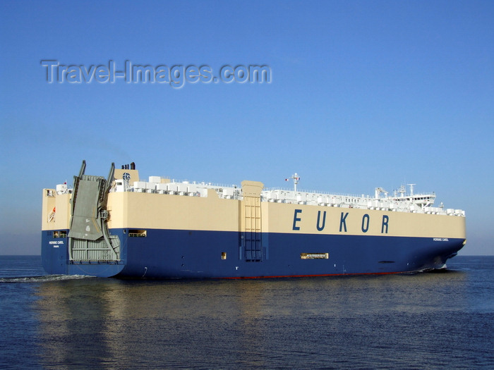 france1297: Le Havre, Seine-Maritime, Haute-Normandie, France: Morning Carol Car Transporter ship - Eukor lines - photo by A.Bartel - (c) Travel-Images.com - Stock Photography agency - Image Bank