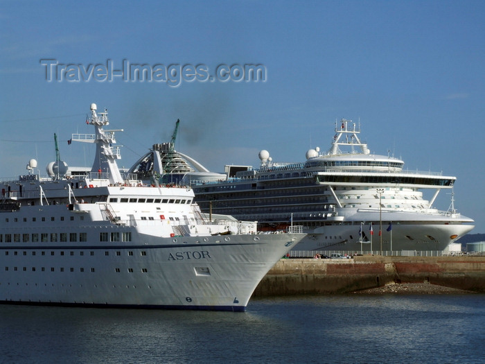 france1299: Le Havre, Seine-Maritime, Haute-Normandie, France: Astor and Grand Princess Cruise Ships - Normandy - photo by A.Bartel - (c) Travel-Images.com - Stock Photography agency - Image Bank