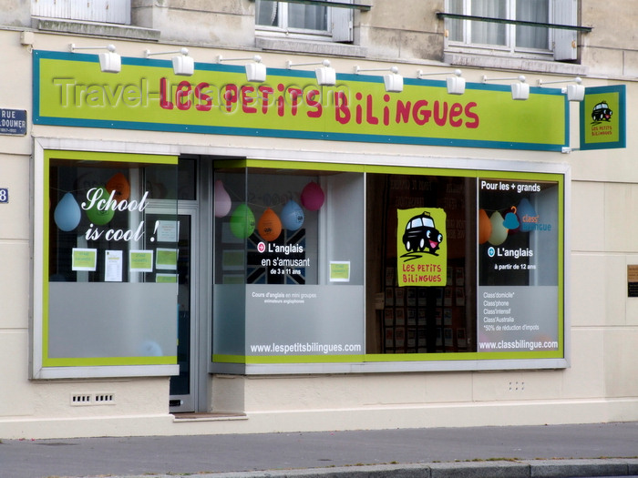france1310: Le Havre, Seine-Maritime, Haute-Normandie, France: Les Petits Bilingues, English lessons for Children - School is Cool - photo by A.Bartel - (c) Travel-Images.com - Stock Photography agency - Image Bank