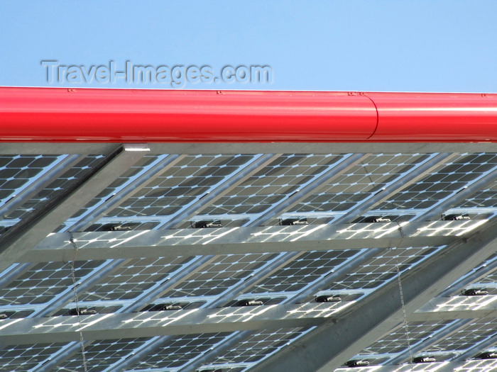 france1312: Le Havre, Seine-Maritime, Haute-Normandie, France: detail of Solar Panel Roof, Gas Station - green energy - photo by A.Bartel - (c) Travel-Images.com - Stock Photography agency - Image Bank
