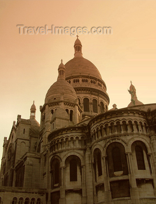 france132: France - Paris: Sacre-Coeur basilica - sepia - photo by K.White - (c) Travel-Images.com - Stock Photography agency - Image Bank