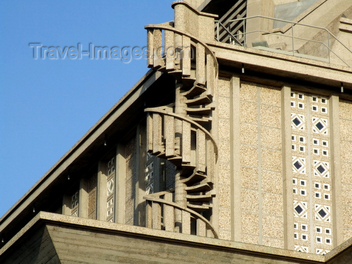 france1321: Le Havre, Seine-Maritime, Haute-Normandie, France: spiral staircase - detail of St Josephs church - architect A. Perret - photo by A.Bartel - (c) Travel-Images.com - Stock Photography agency - Image Bank