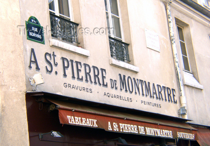 france133: France - Paris: St Pierre de Montmartre - art shop - photo by K.White - (c) Travel-Images.com - Stock Photography agency - Image Bank