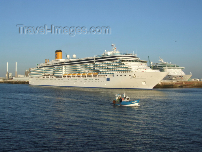 france1331: Le Havre, Seine-Maritime, Haute-Normandie, France: Costa Deliziosa Cruise Ship and small fishing boat - Normandy - photo by A.Bartel - (c) Travel-Images.com - Stock Photography agency - Image Bank