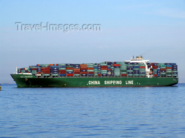 france1337: Le Havre, Seine-Maritime, Haute-Normandie, France: CSCL Long Beach - Container Ship, China Shipping - photo by A.Bartel - (c) Travel-Images.com - Stock Photography agency - Image Bank