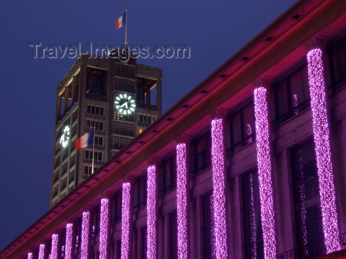 france1341: Le Havre, Seine-Maritime, Haute-Normandie, France: Christmas and New Year illuminations, Town Hall - photo by A.Bartel - (c) Travel-Images.com - Stock Photography agency - Image Bank