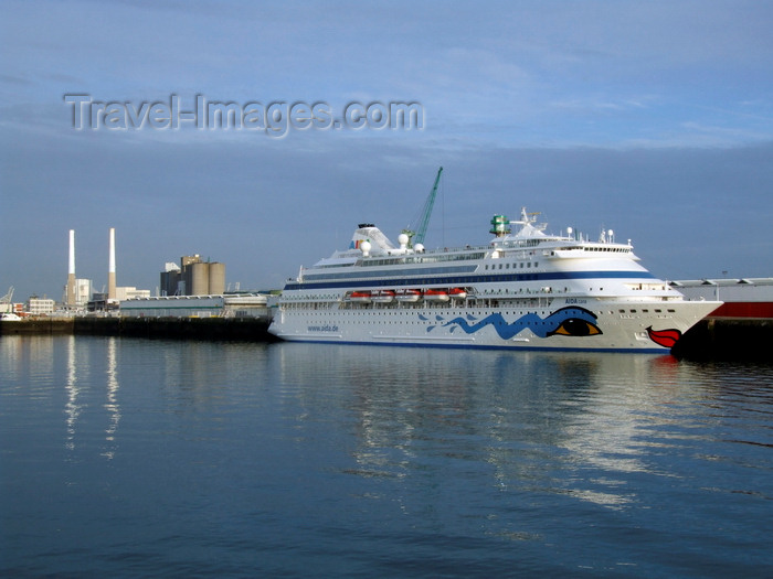 france1343: Le Havre, Seine-Maritime, Haute-Normandie, France: Aida Cara Cruise Ship near the EdF power station - photo by A.Bartel - (c) Travel-Images.com - Stock Photography agency - Image Bank