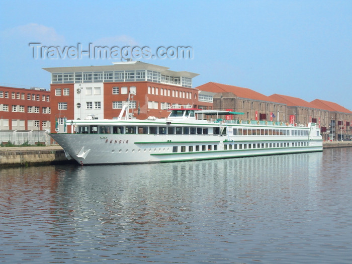 france1344: Le Havre, Seine-Maritime, Haute-Normandie, France: the Renoir, River Cruise Ship at the Vauban Docks - photo by A.Bartel - (c) Travel-Images.com - Stock Photography agency - Image Bank