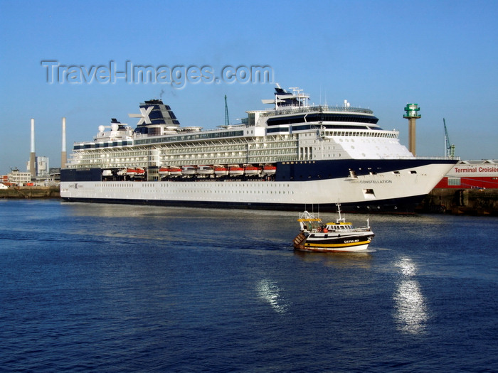 france1346: Le Havre, Seine-Maritime, Haute-Normandie, France: Celebrity Cruises Constellation Cruise Ship - Normandy - photo by A.Bartel - (c) Travel-Images.com - Stock Photography agency - Image Bank