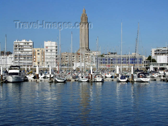 france1349: Le Havre, Seine-Maritime, Haute-Normandie, France: Sailing Harbour and Saint Josephs Church - Normandy - photo by A.Bartel - (c) Travel-Images.com - Stock Photography agency - Image Bank
