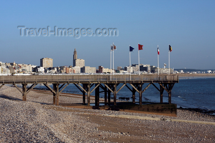 france1358: Le Havre, Seine-Maritime, Haute-Normandie, France: Estacade, St. Adresse - waterfront - pier - photo by A.Bartel - (c) Travel-Images.com - Stock Photography agency - Image Bank