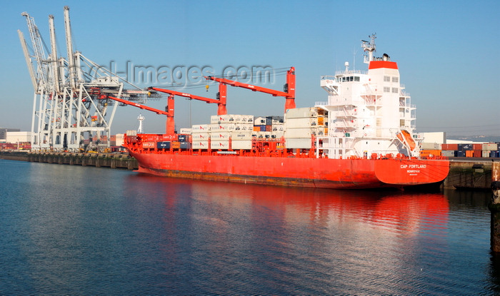 france1360: Le Havre, Seine-Maritime, Haute-Normandie, France: Cap Portland - Monrovia registered Container Ship, Port - Normandy - photo by A.Bartel - (c) Travel-Images.com - Stock Photography agency - Image Bank