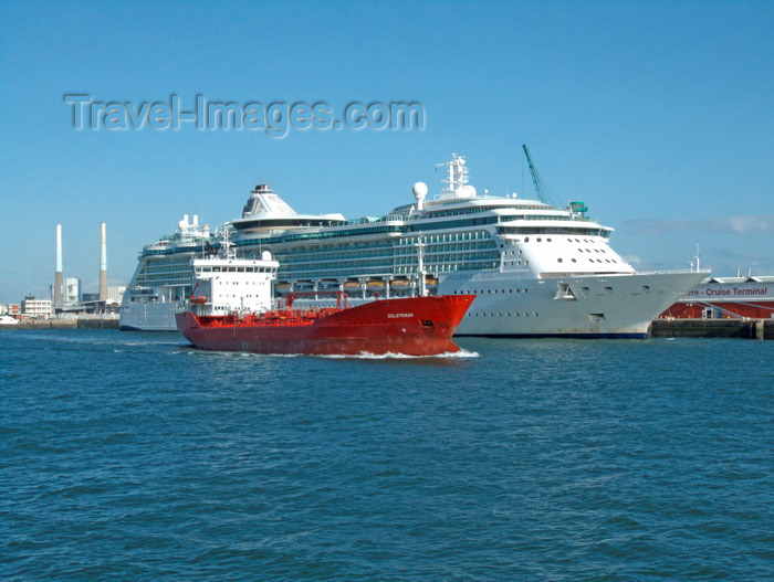 france1376: Le Havre, Seine-Maritime, Haute-Normandie, France: Port scene - Solstraum and Brilliance of the Seas cruise ship - Normandy - photo by A.Bartel - (c) Travel-Images.com - Stock Photography agency - Image Bank