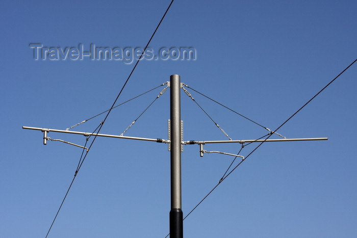 france1377: Le Havre, Seine-Maritime, Haute-Normandie, France: overhead line - tramway power lines - photo by A.Bartel - (c) Travel-Images.com - Stock Photography agency - Image Bank